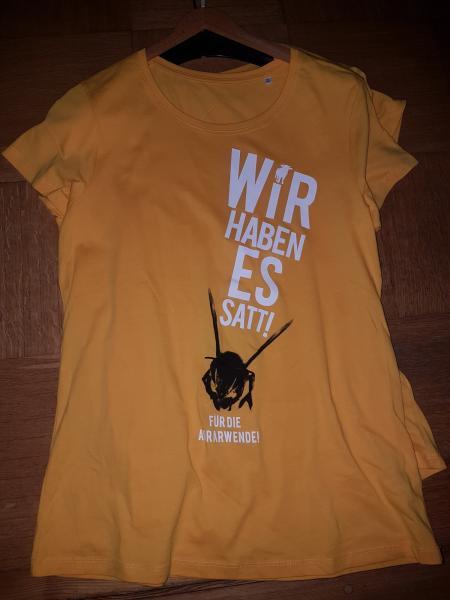 Wir haben es satt-Protest-T-Shirt