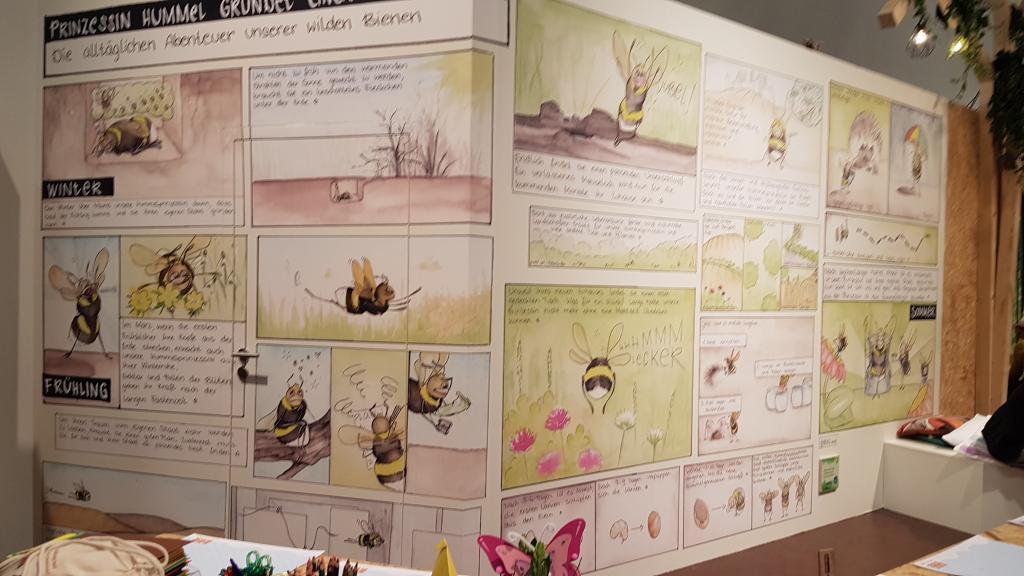 Ungewöhnlicher Wandschmuck: Leben der Hummeln